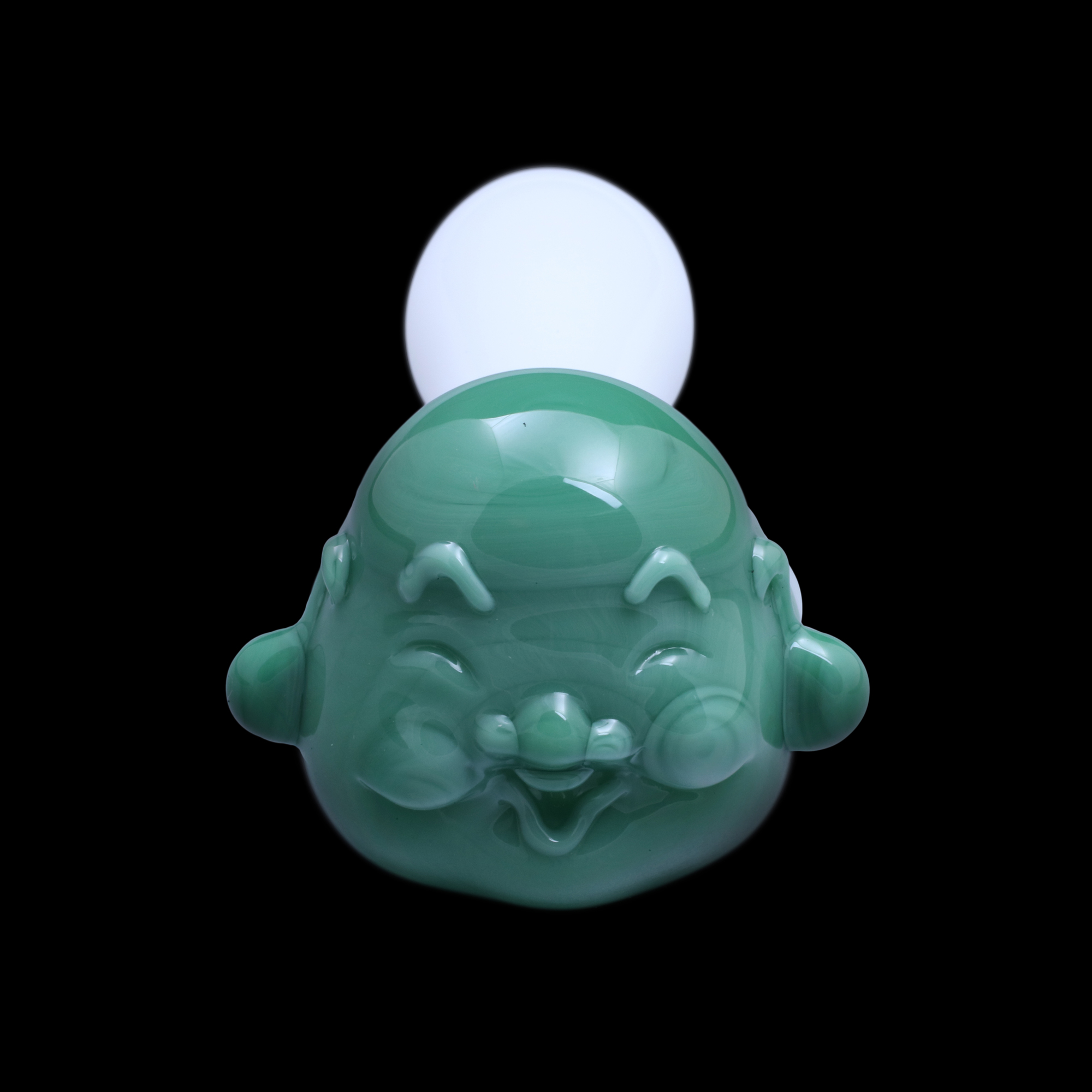 Happy Buddha Glass Pipe