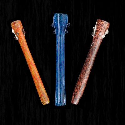 Orchid Frit Cigarette Holder Glass Pipe