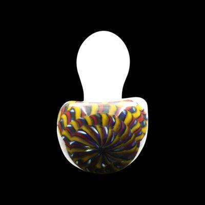 Fiasco Glass Pipe featuring Latticino Cane Head