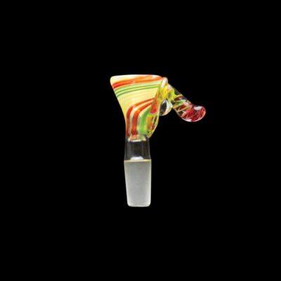 Full Color Rasta Funnel Glass Bowl