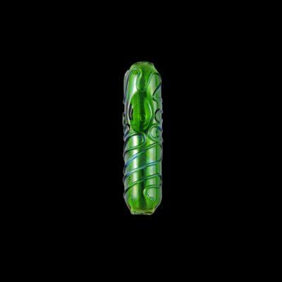 Interlude-Steamroller-Glass-Pipe-Green