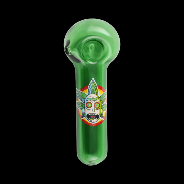 Canna Crown Rick Glass Pipe