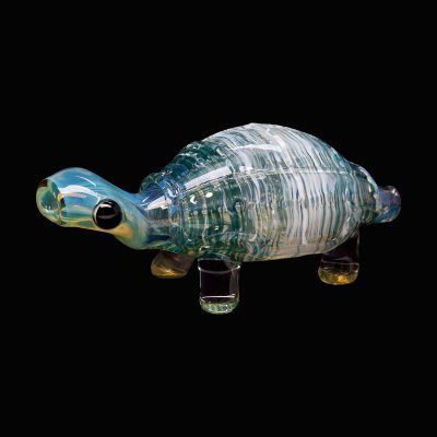 Sculpted Turtle Glass Pipe