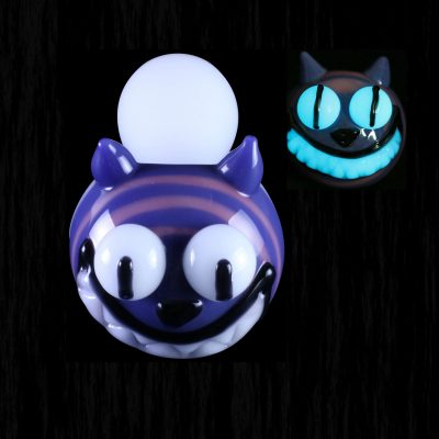 Cheshire Cat Glow In The Dark Glass Pipe