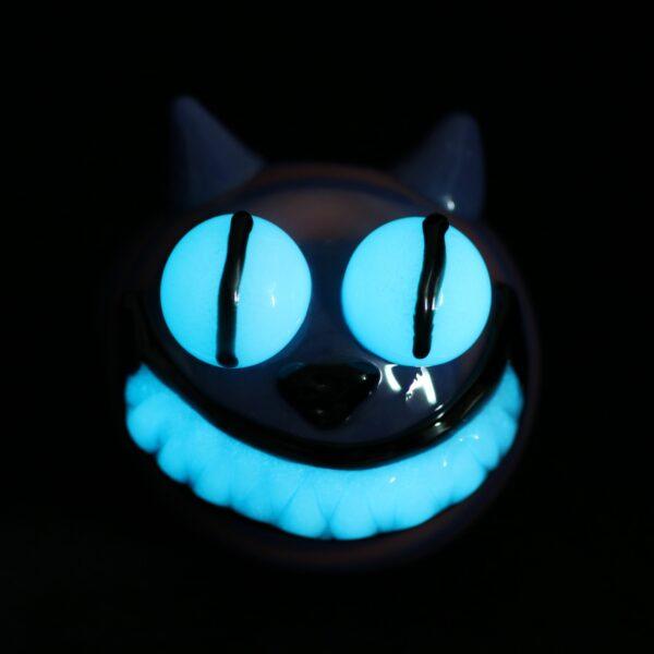 Cheshire Cat Glow In The Dark Glass Pipe
