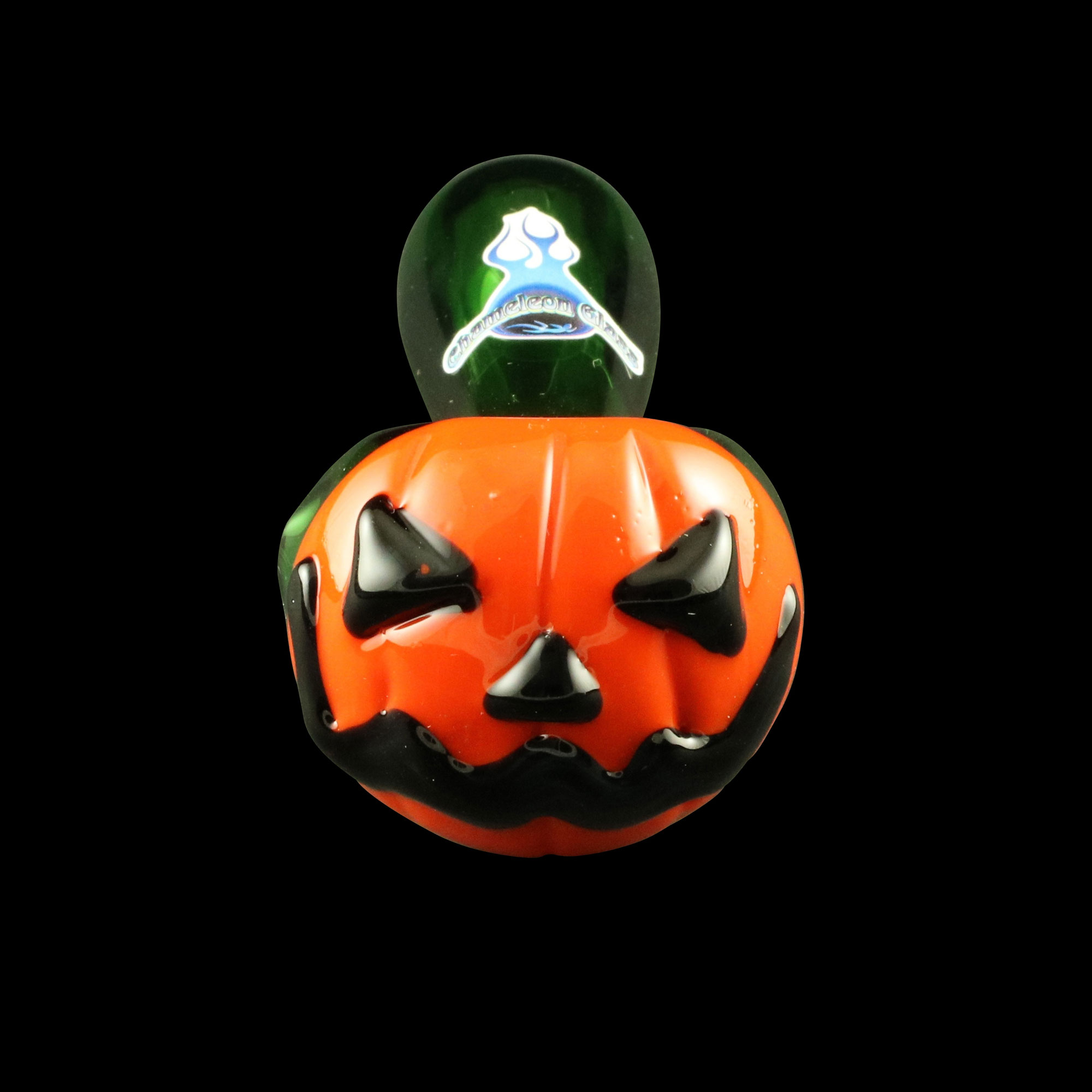 Jack-O-Lantern Glass Pipe