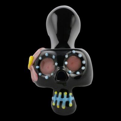 Bone Head Dia de Muertos Glass Pipe