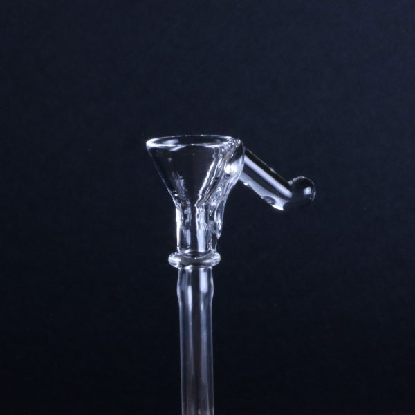 Funnel Style Bowl Clear Handle Glass Pipe