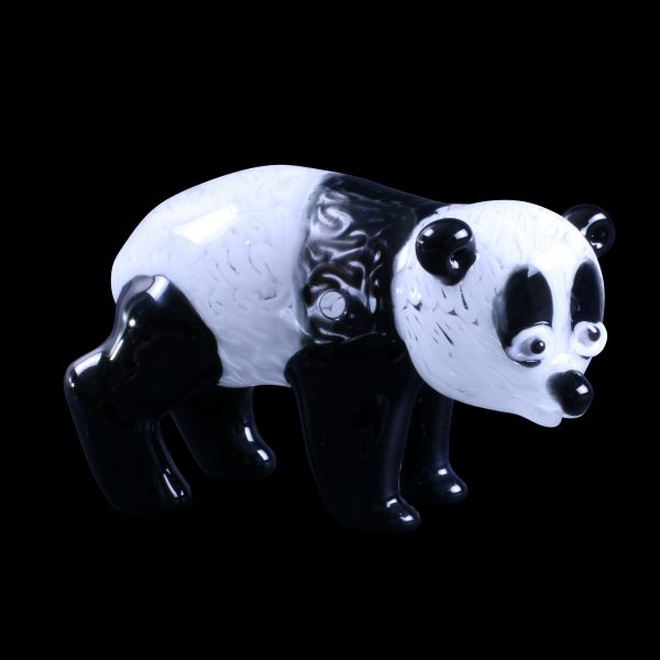 Panda Glass Pipe Sculpture
