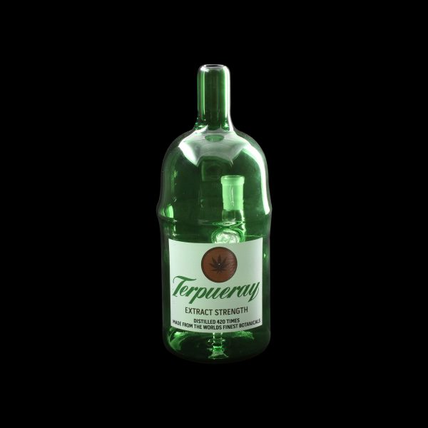 Terpeuray Gin Bottle Glass Water Pipe