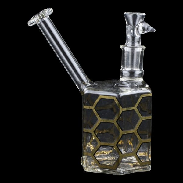 Hex Rig Glass Water Pipe