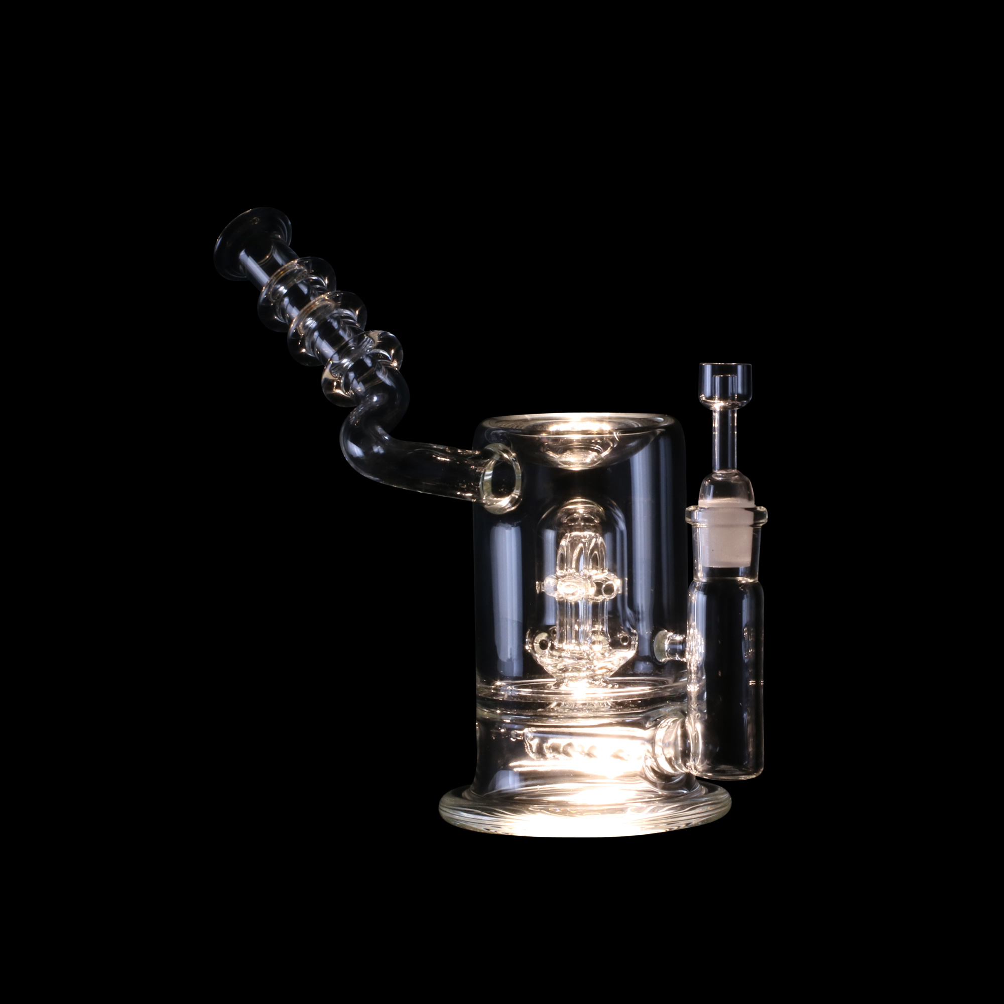 E Nail Glass Water Pipe featuring Reynolds Percolator