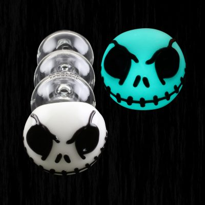 Jack Skellington Glow in the Dark Typhoon Glass Pipe