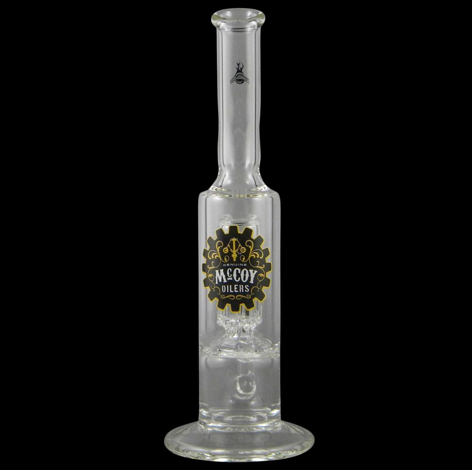 The McCoy Oiler Oil Can with Reynolds Percolator Glass Water Pipe