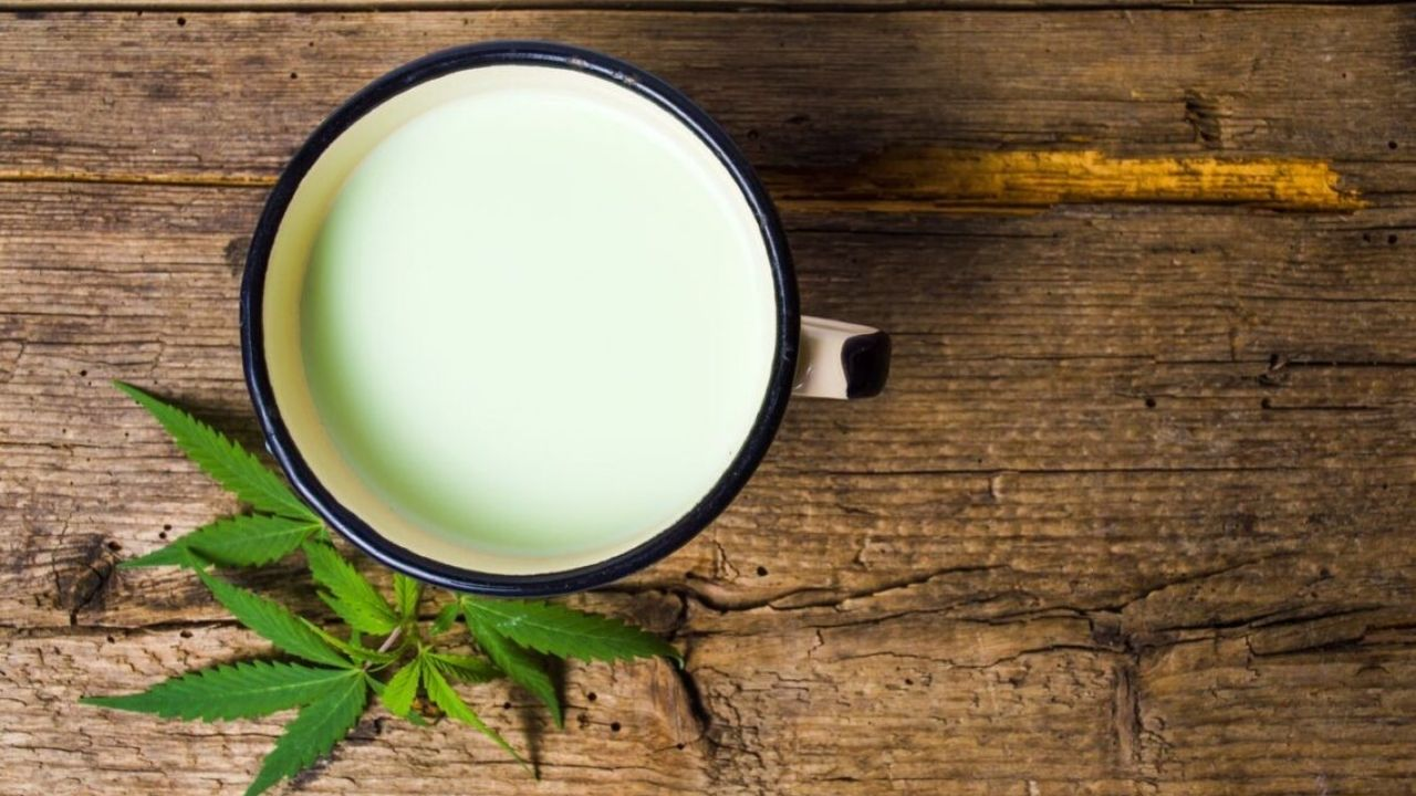 Cannabis-infused White Chocolate Milk