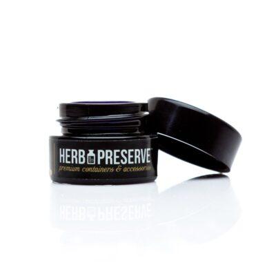 Herb Preserve 1/2 gram Screw Cap Airtight Stash Jar open