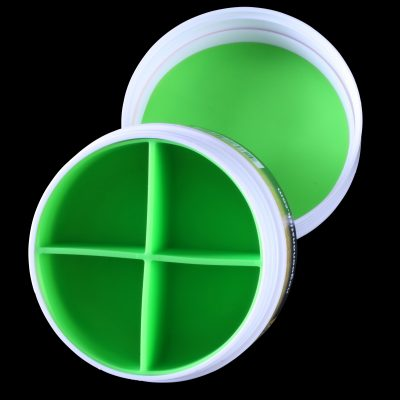No Goo XL Plastic Jar with 4 Chamber Silicone Insert