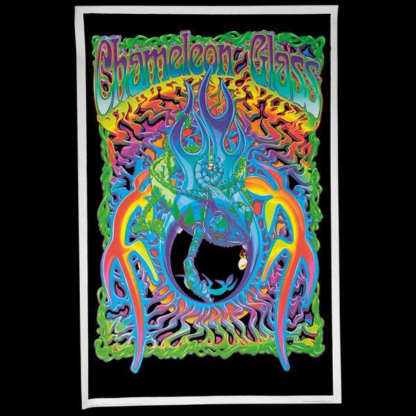 Chameleon Blacklight Poster