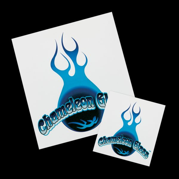 Chameleon Glass Logo Stickers