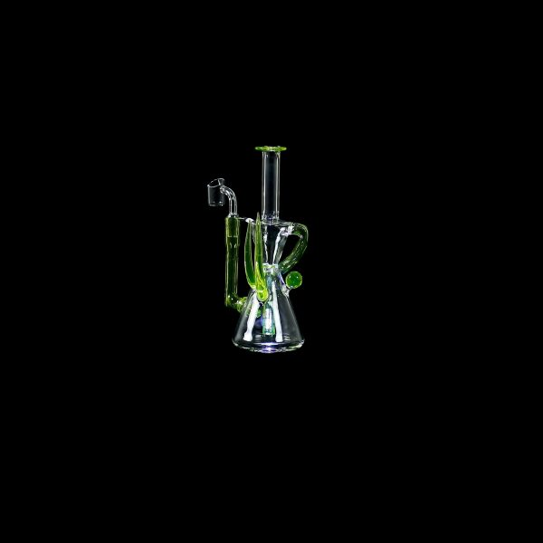 Hourglass Recycler Glass Water Pipe