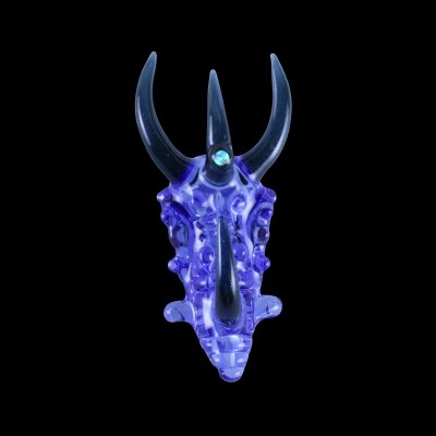 Custom Upgrade Glass Blue Dream and Heavy Blue Leprechaun Dragon Pendant