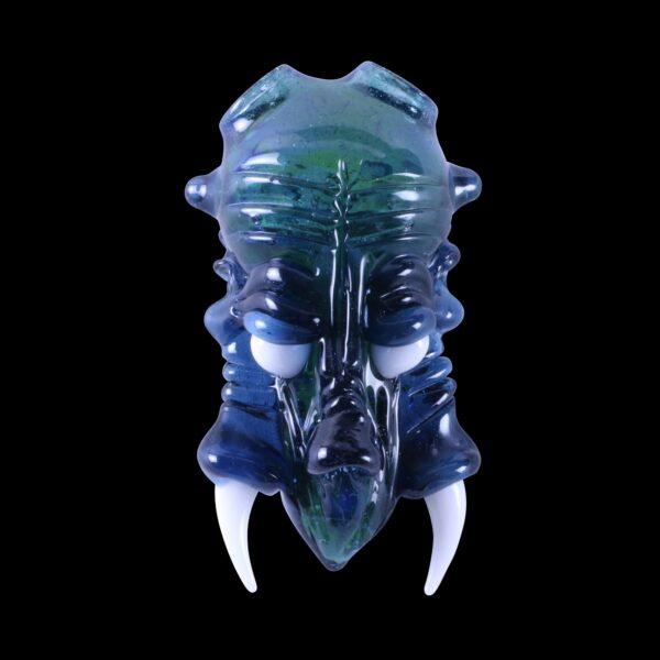 Custom Shuhbuh Experimental Green and Star White Monster Pendant