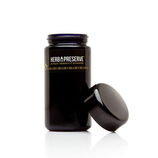 Herb Preserve 1/4 oz Screw Cap Airtight Stash Jar open