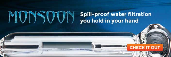 Monsoon - Spill-proof water filtration on the go