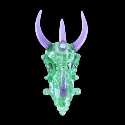 Custom Upgrade Glass Purple Lollipop and Green Dragon Pendant